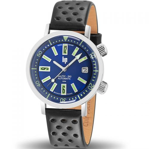 Montre homme Lip Nautic Ski bleue verre saphir automatique