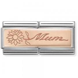 Maillon Nomination classic double Or rose Mum