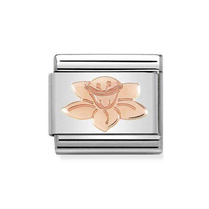 Maillon Nomination classic narcisse Or rose