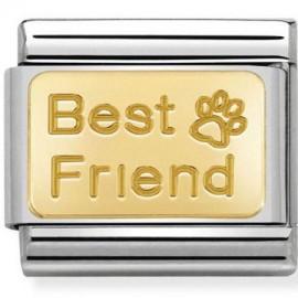 Maillon Nomination classic best friend en or
