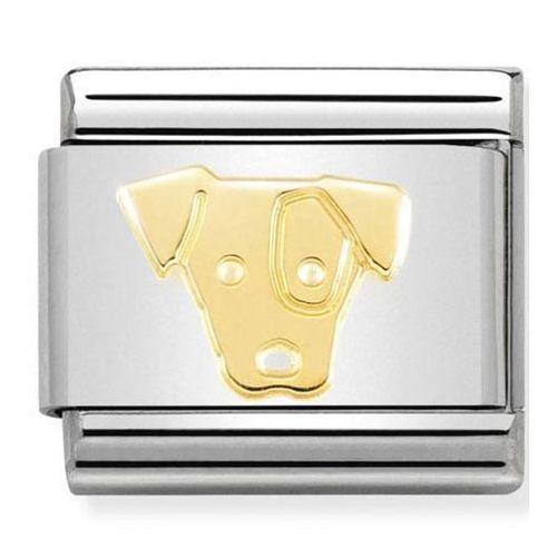 Maillon Nomination classic chien jack Russel en Or