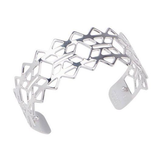 Bracelet manchette Les Georgettes motif inca finition Argent small