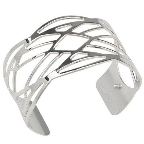 Bracelet manchette Les Georgettes motif apache finition Argent medium