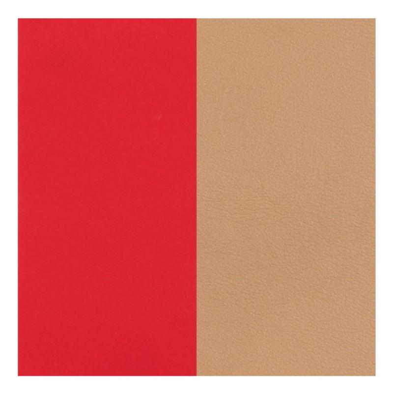 Cuir reversible les Georgettes rouge soft/beige