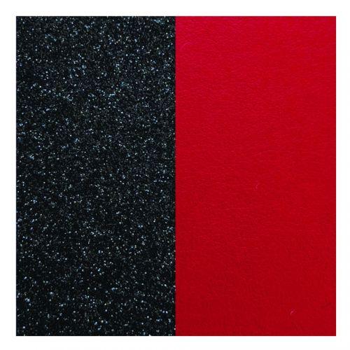 Cuir reversible les Georgettes paillettes noires/ rouge