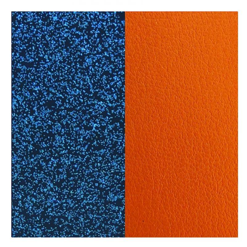 52aa8294fbd31d Cuir reversible les Georgettes glitter bleu / abricot