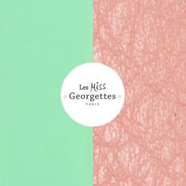 Cuir reversible miss les Georgettes vert d'eau/Rose