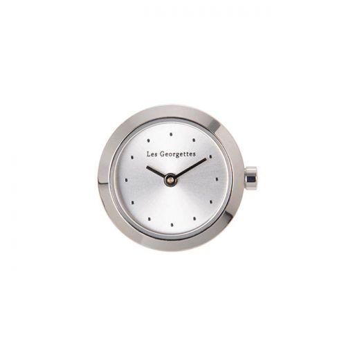 Boitier de montre Les Georgettes coutures rond argenté cadran argent