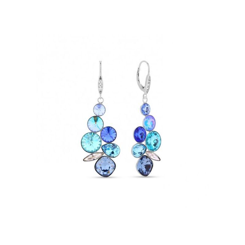 boucles d'oreilles pendantes bleu