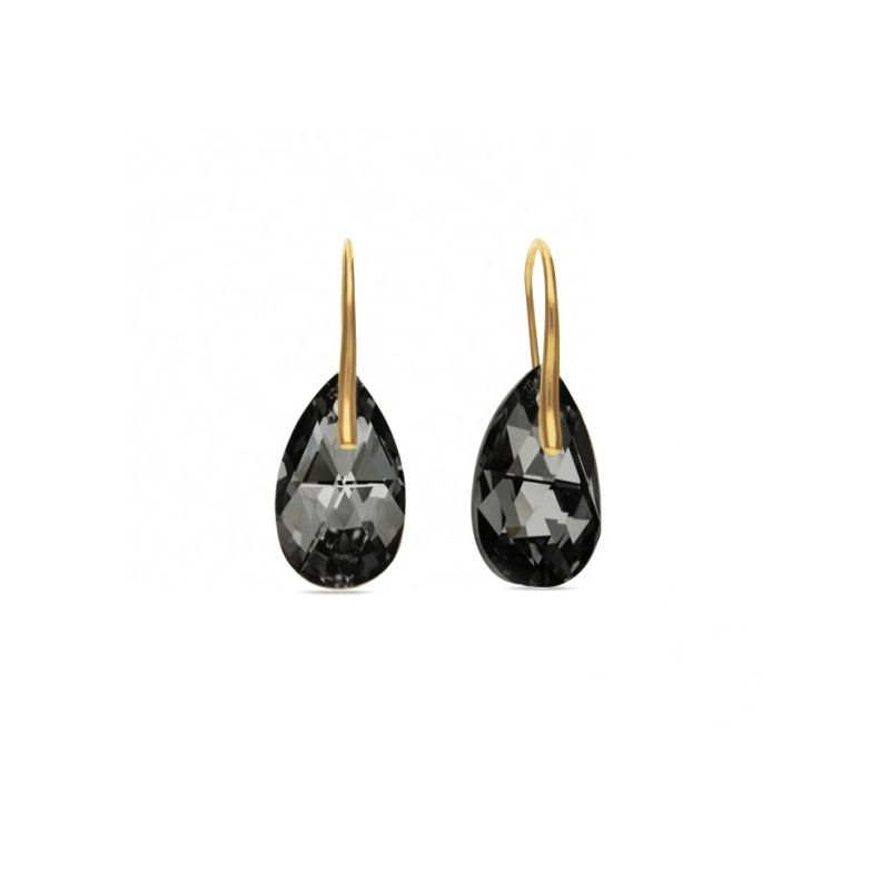 Boucles d'oreilles Spark Plaqué Or sur Argent et cristaux de Swarovski