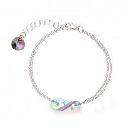 Bracelet Spark Argent et cristaux Swarovski motif infini