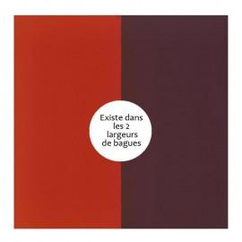 Vinyle de bague reversible les Georgettes orange/brun rose