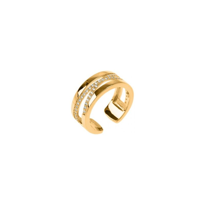Bague Les Georgettes précieuses motif liens finition Or jaune 8 mm