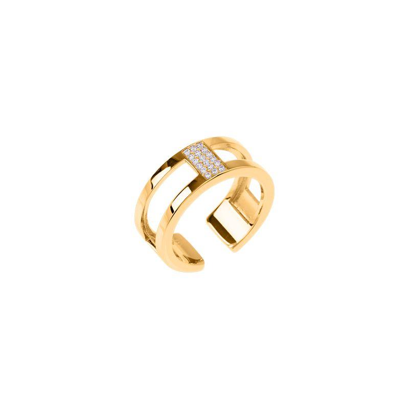 Bague Les Georgettes précieuses motif barrette finition Or jaune 8 mm