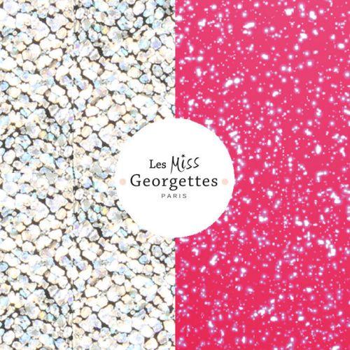 Cuir reversible miss les Georgettes glitter argent/glitter fuschia