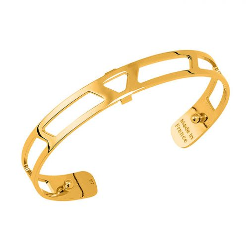 Bracelet manchette Les Georgettes motif ibiza 8 mm finition Or jaune