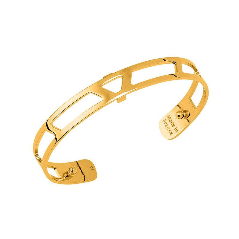 Bracelet manchette Les Georgettes motif ibiza 8 mm finition Or jaune