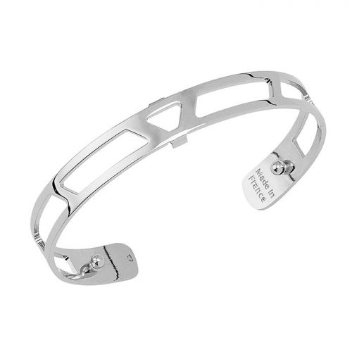 Bracelet manchette Les Georgettes motif ibiza 8 mm finition Argent