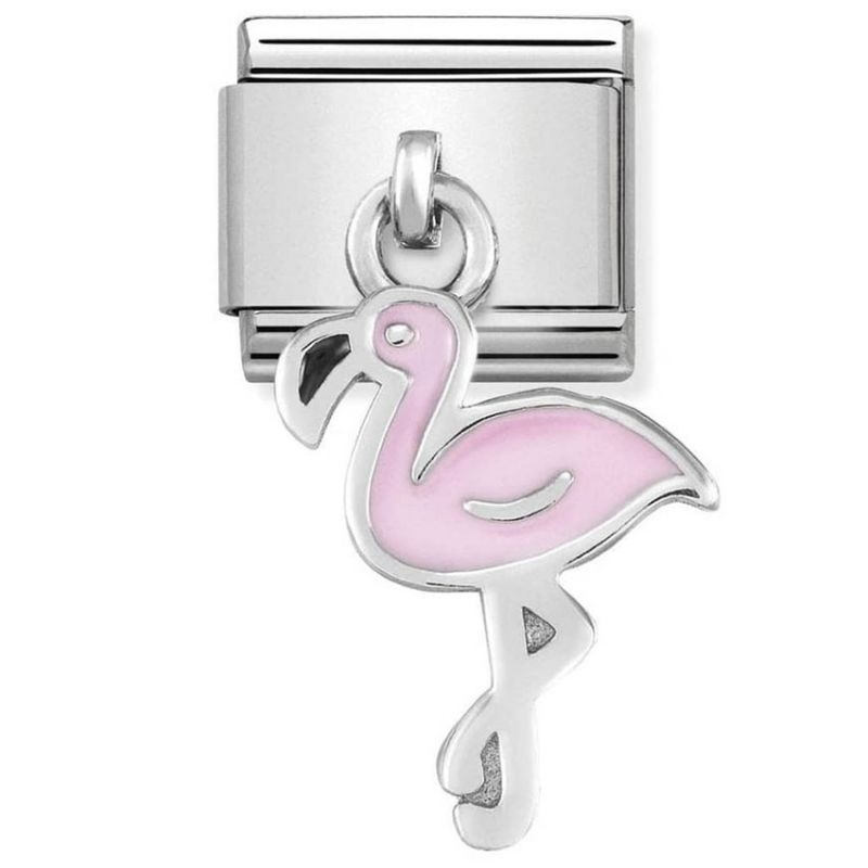 Maillon Nomination classic charms flamant rose
