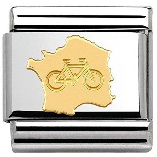 Maillon Nomination classic tour de France vélo en Or