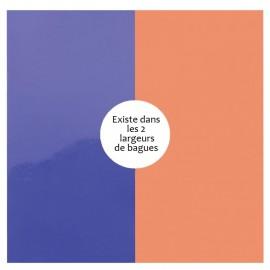 Vinyle de bague reversible les Georgettes violet vernis / saumon