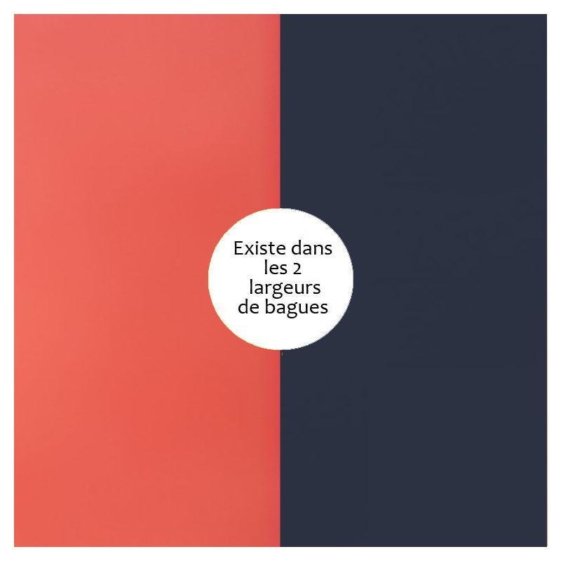 Vinyle de bague reversible les Georgettes corail / marine métallisé