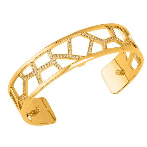 Bracelet manchette Les Georgettes précieuses motif girafe finition Or jaune small