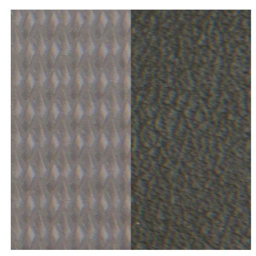 Cuir reversible les Georgettes gris tressé / treillis