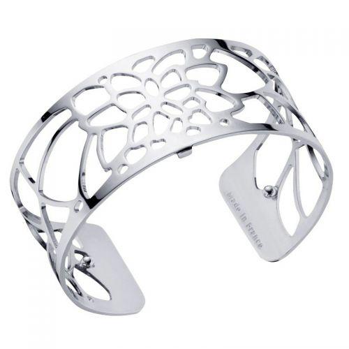 Bracelet manchette Les Georgettes motif nénuphar finition Argent medium