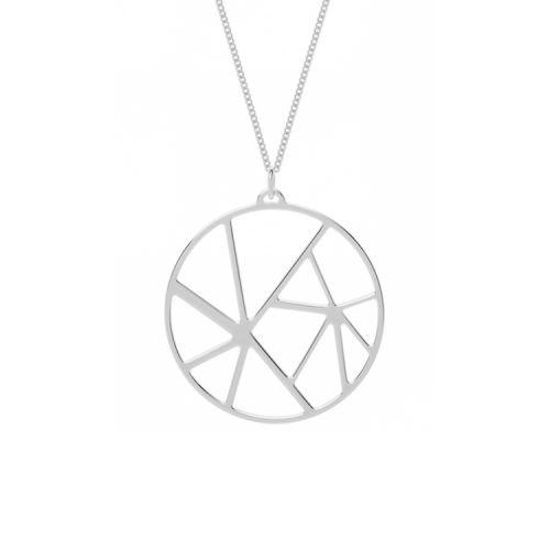 Collier femme Les Georgettes finition Argent motif solaire