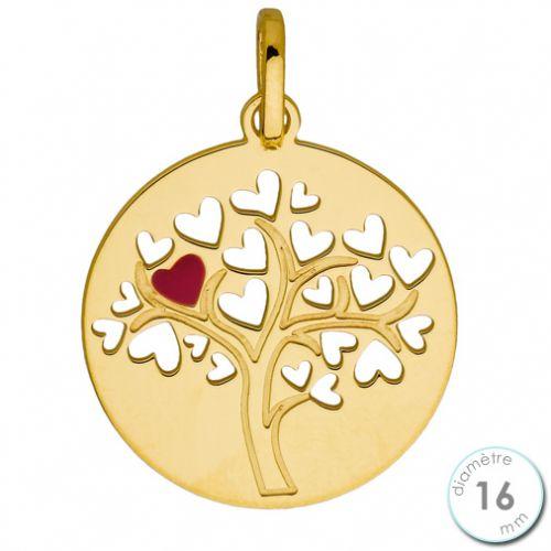 Pendentif Or jaune arbre de vie ajouré