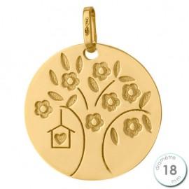 Pendentif Or jaune arbre de vie