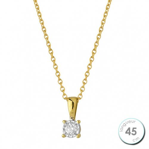 Collier Or jaune et Diamant
