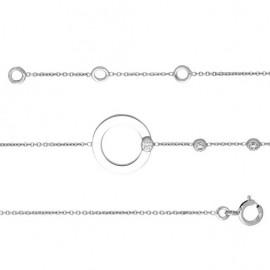 Bracelet femme Or blanc et oxydes
