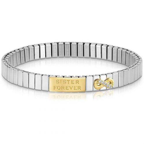 Bracelet extensible Nomination acier et Or soeurs