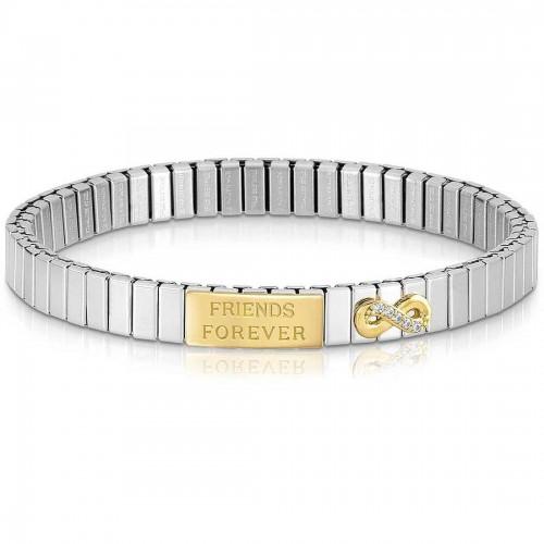 Bracelet extensible Nomination acier et Or amis