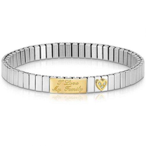 Bracelet extensible Nomination acier et Or famille