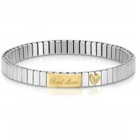 Bracelet extensible Nomination acier et Or maman