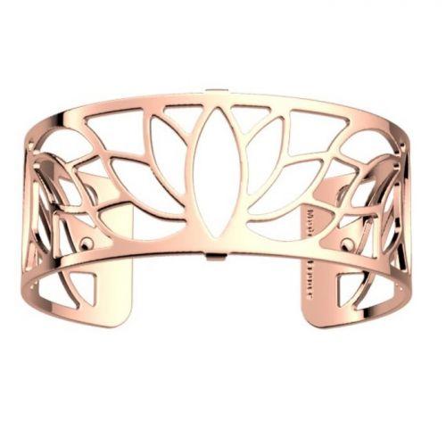 Bracelet manchette Les Georgettes motif lotus finition Or rose medium