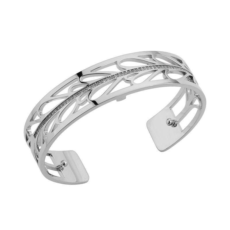 Bracelet manchette Les Georgettes précieuses motif courbes finition Argent small