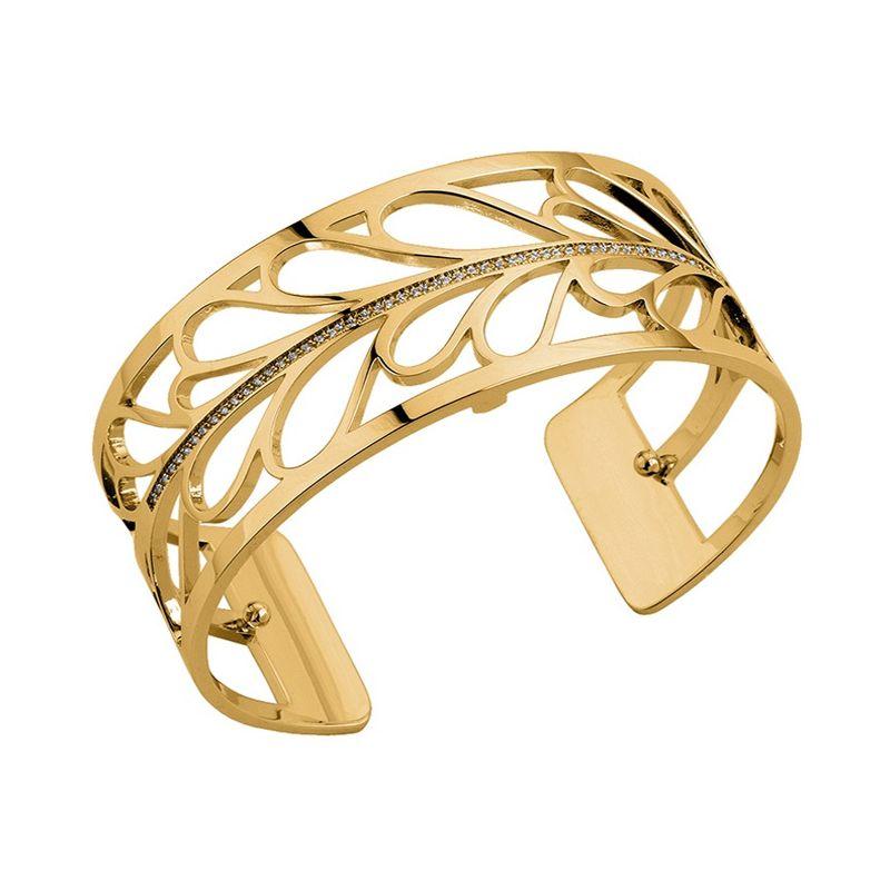 Bracelet manchette Les Georgettes précieuses motif fontaine finition Or jaune médium