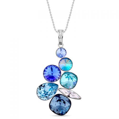 Collier Spark Argent et cristaux