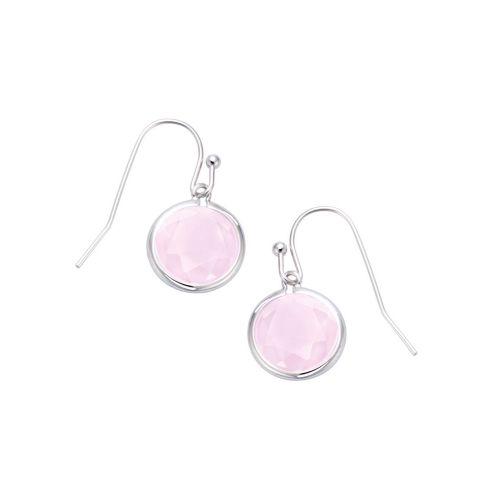 Boucles d'oreilles Argent et cristal rose