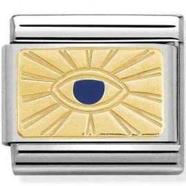 Maillon Nomination classic oeil de Dieu en Or