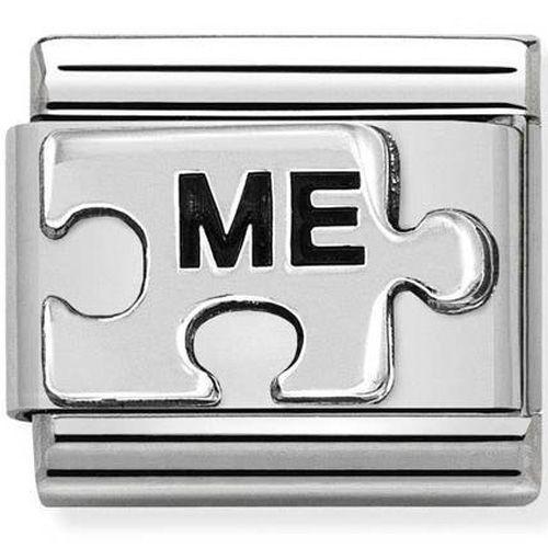 Maillon Nomination classic pièce de puzzle Me en Argent