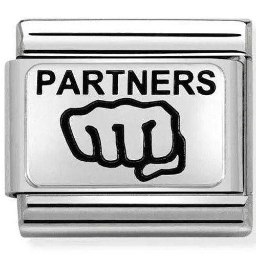 Maillon Nomination classic Partners en Argent