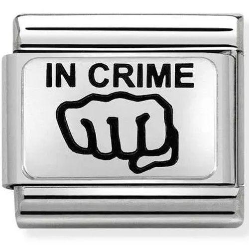 Maillon Nomination classic In crime en Argent