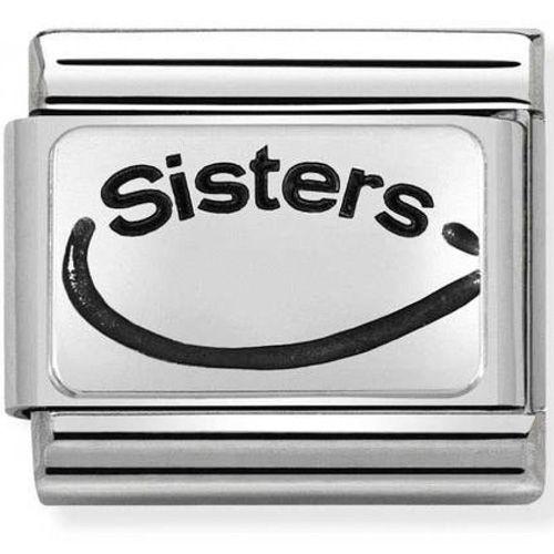 Maillon Nomination classic Sisters en Argent