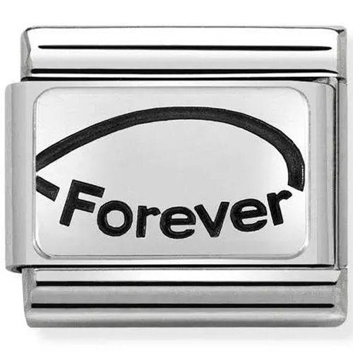 Maillon Nomination classic Forever en Argent