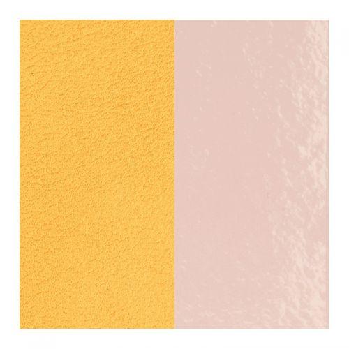 Cuir reversible les Georgettes Rose clair vernis / citron
